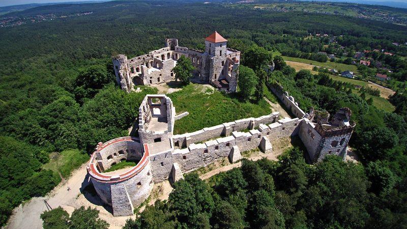 Zamek Tenczyn - widok współczesny.