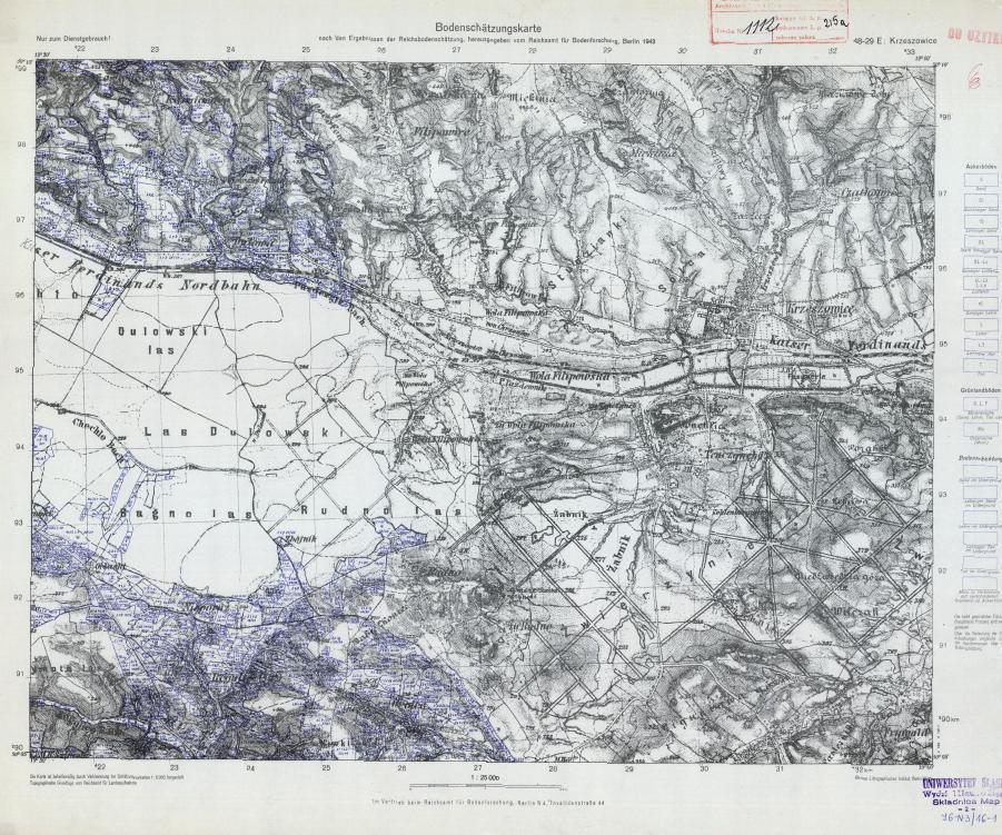 48-48-29 E Krzeszowice Bodenschaetzungskarte B 1943-Czantoria