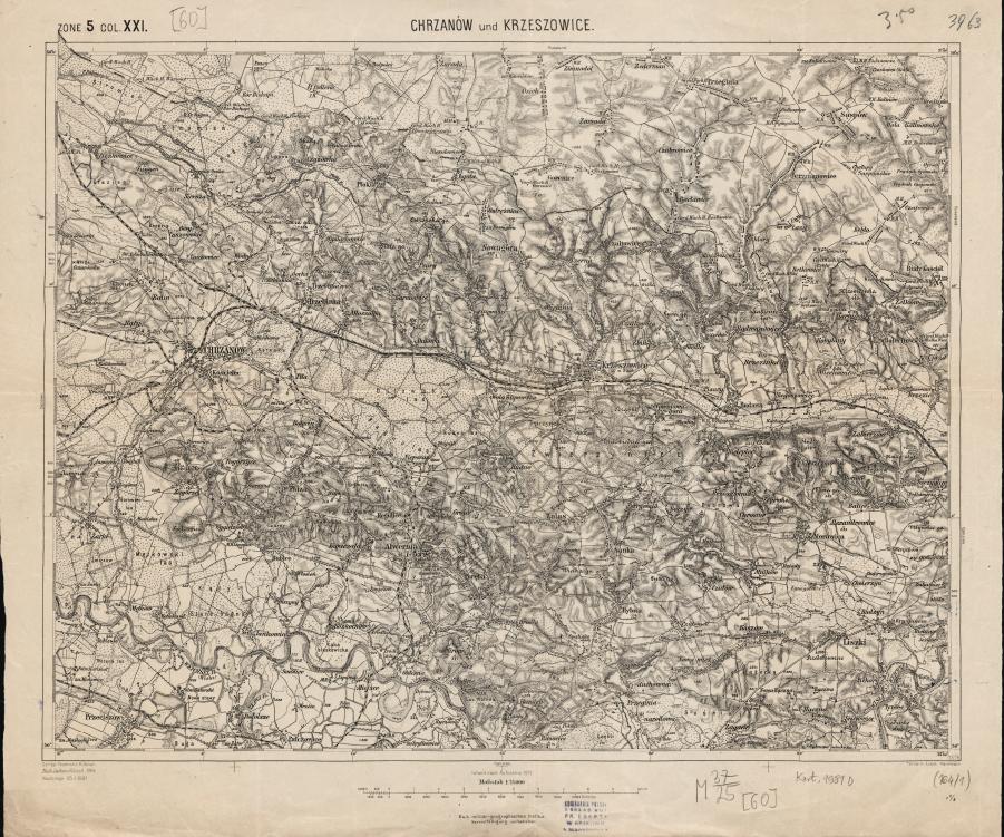 KuK075 Zone 5 Col. XXI CHRZANOW und KRZESZOWICE 1901