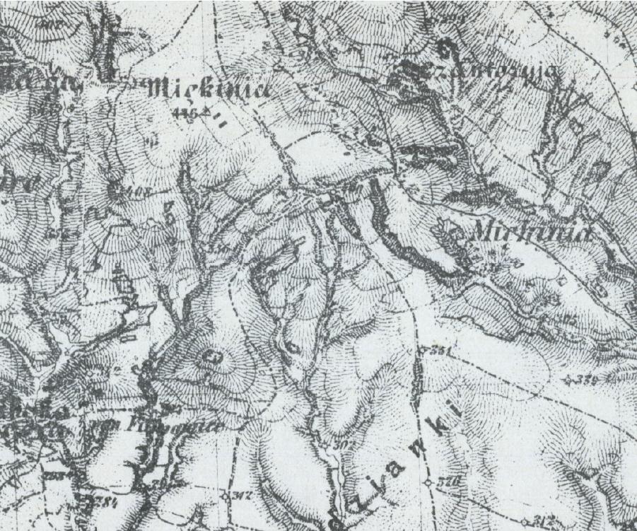 Miękinia-Czantoria-mapa niemiecka 1943