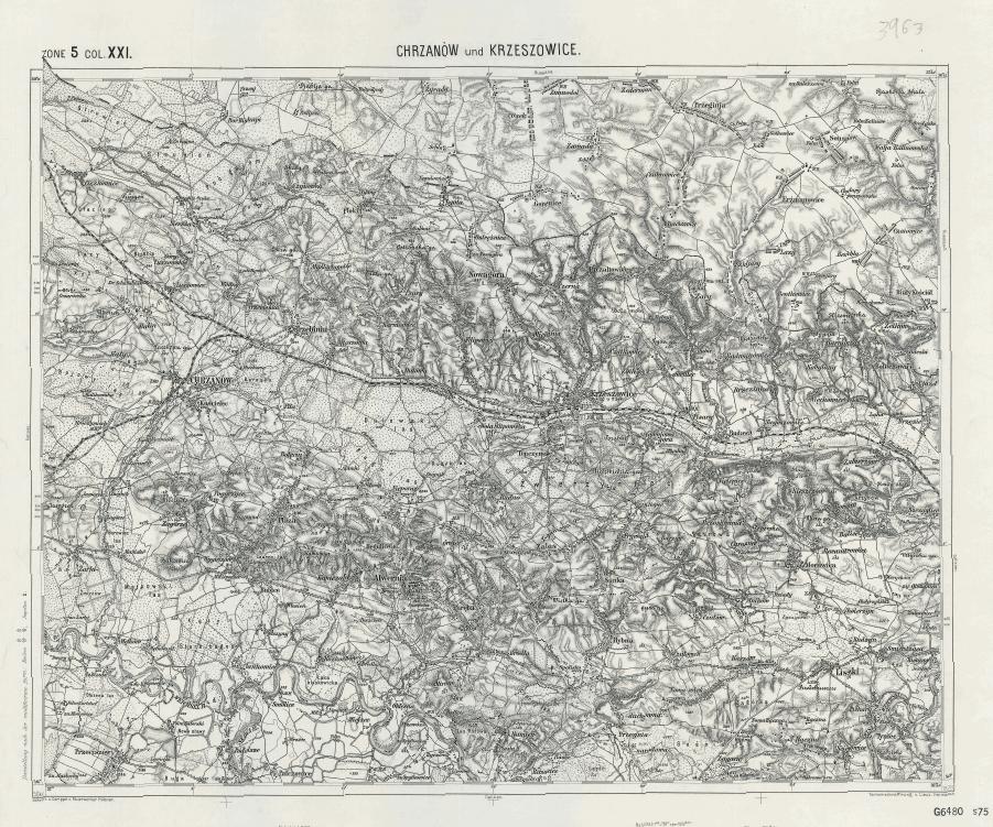 ZONE 5 COL XXI CHRZANOW und KRZESZOWICE 1878