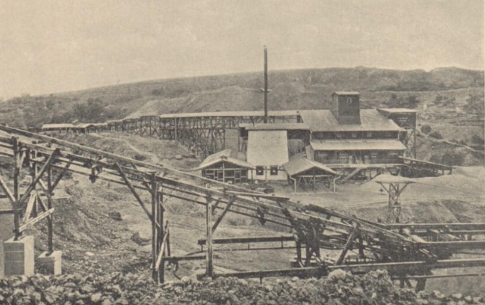 Budynek łamaczy, kamieniołom wMiękini, 1927