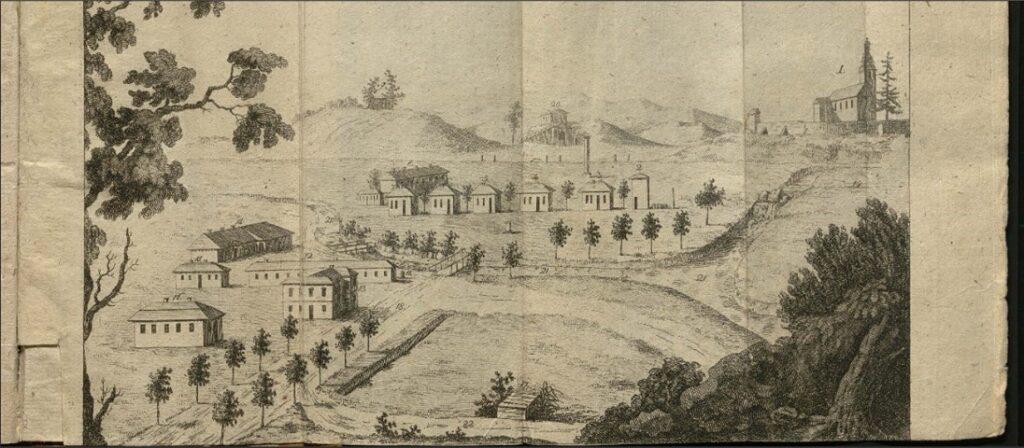 Krzeszowice widok uzrowiska 1788