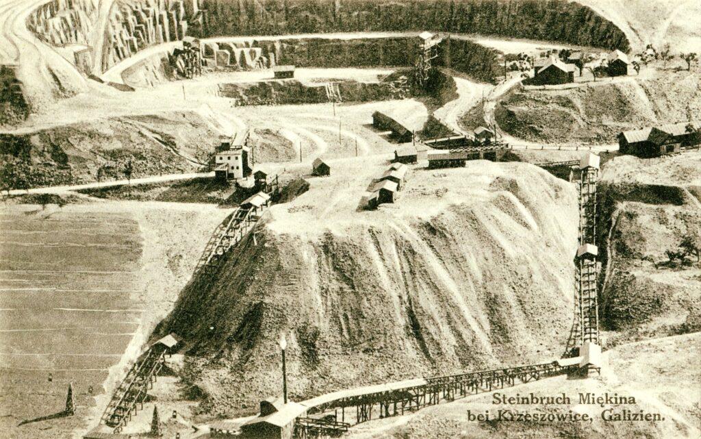 Kamieniołom wMiękini, pocztówka, ok. 1910 r.
